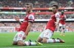 Wilshere And Giroud Celebrate Tremendous Goal
