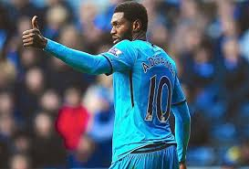 Adebayor Thumbs Up Against Swansea
