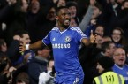 Eto'o scores Hat Trick Against Manchester United