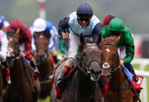 Kinston Hill triumphs in St Leger. Image credit @Channel4Racing
