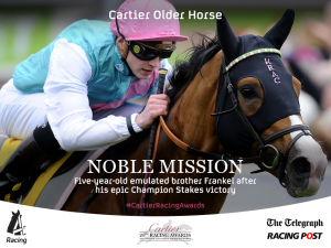 Noble Mission a grand old horse. Image credit @Channel4Racing