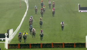 A tight race. Winner Martello Tower (in yellow). Image credit @Channel4Racing