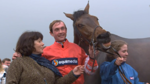 Coneygree gives a winning smile for the cameras. Image credit @Channel4Racing
