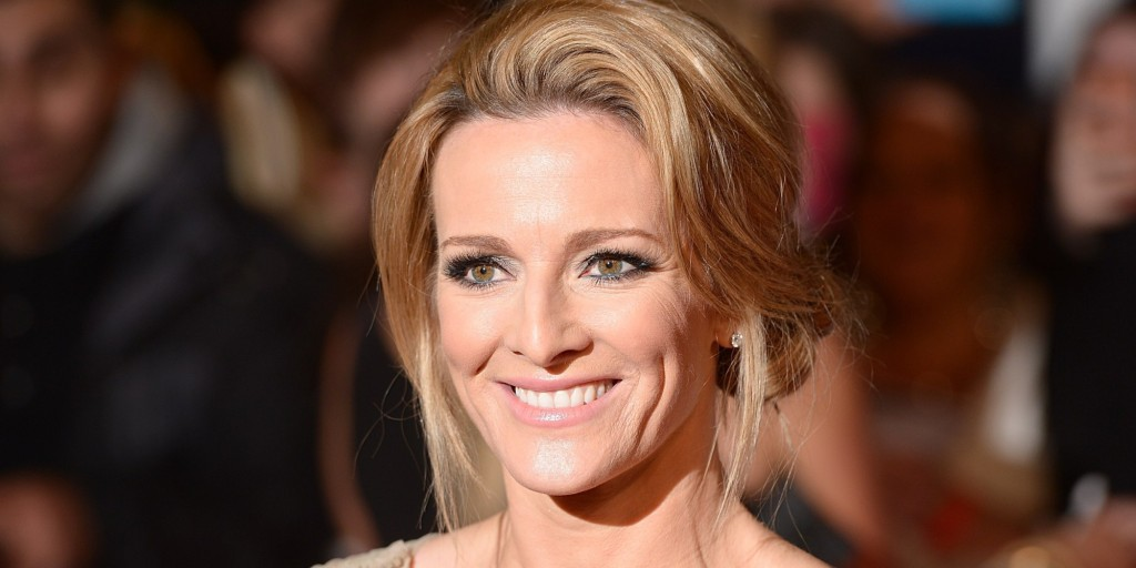 Gabby Logan arriving for the 2014 National Television Awards at the O2 Arena, London.