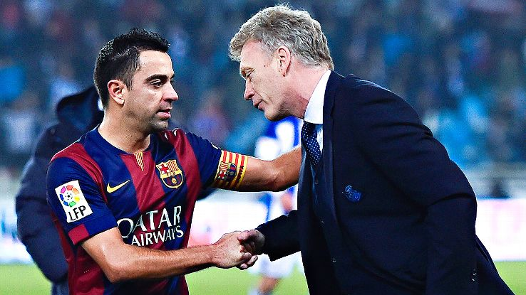 David Moyes With Xavi